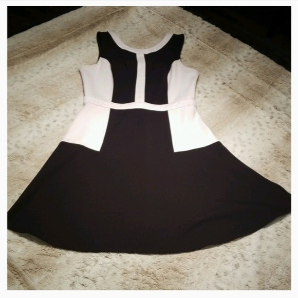 Jack by BB Dakota Black and White Midi Dress Size 6