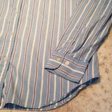 Ralph Lauren Light Blue Striped Button Down Size M