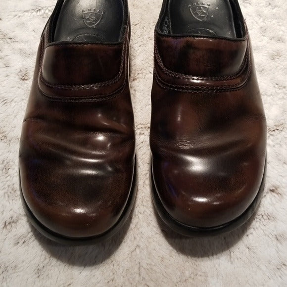 Ariat Brown Leather Sport Mules Size 7