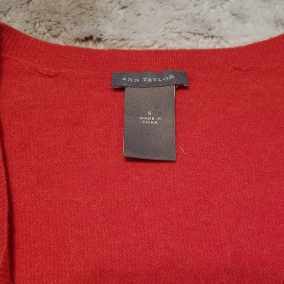 Ann Taylor Light Weight 3/4 Sleeve Wool Sweater Size S