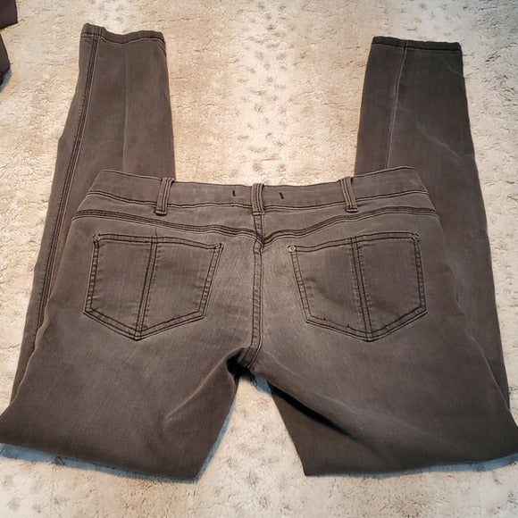 Free People Gray Mid Rise Skinny Jeans Size 27