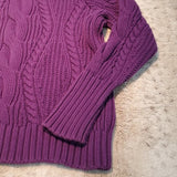 Lands' End Thick Heavy Weight Cable Knit Sweater Size L