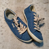 Taos Star Washed Canvas Teal Sneaker Size 7