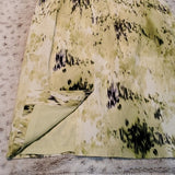 Ann Taylor Silk Green Watercolor Sheath Dress Size 0