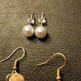 Boutique Cream Tassel Earrings and Simple Studs