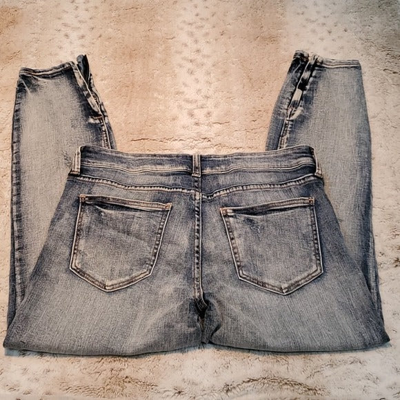 Pistola Tory Light Wash Distressed Jeans Ankle Zip Size 30