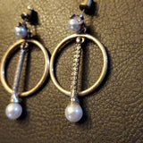 Boutique Gold and White Fashion Earrings