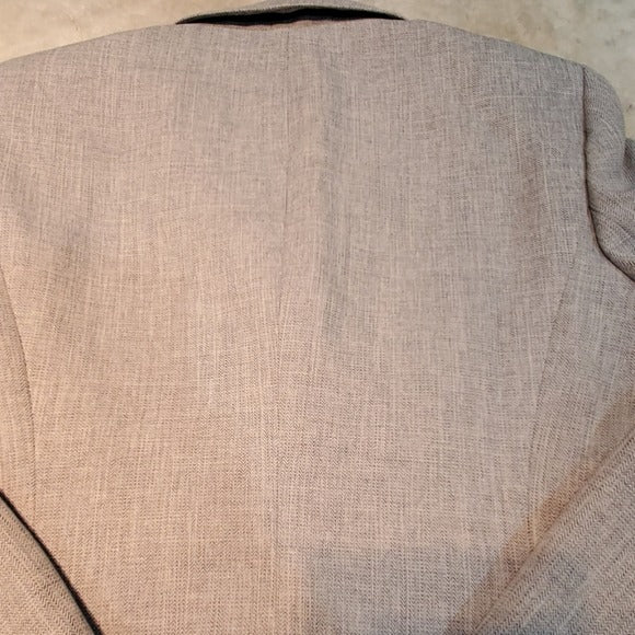 Evan Picone 3 Button Gray and Blue Dress Blazer Size 4