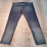 Flying Monkey Mid Rise Cropped Skinny Blue Jeans Size 8
