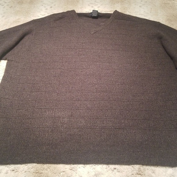 Dockers Light Weight Vneck Gray Sweater Size 2XL