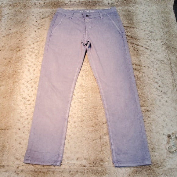 Big Star Blue Purple Acid Wash Cropped Jeans Size 26