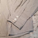 Talbots Petites Navy and White Striped Button Down Size LP