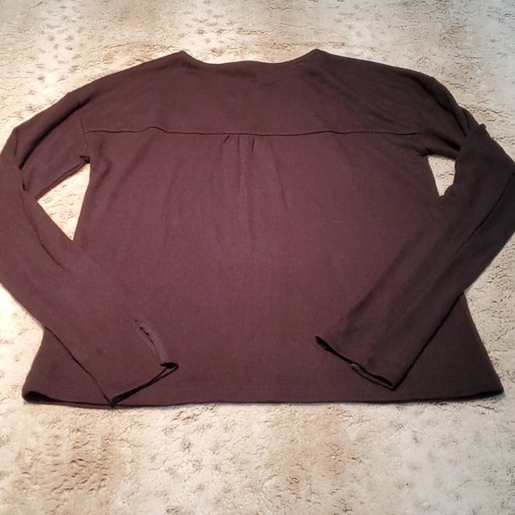 Sanctuary Sienna Mix Black Long Sleeved Blouse Size XS