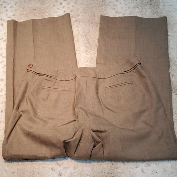 Talbot's Petites Wool Blend Brown Straight Leg Size 6P