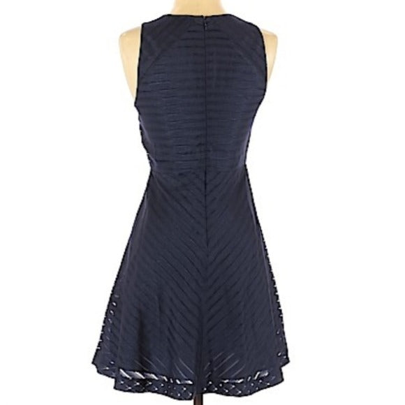 Banana Republic Navy Striped Sheath Dress Size 8P