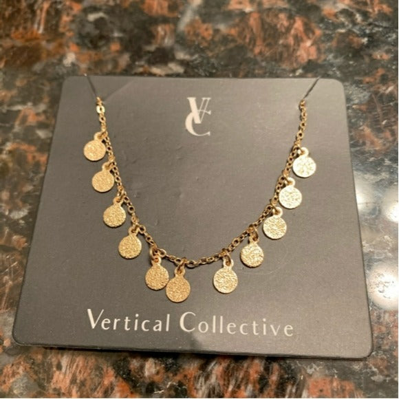 NWT Vertical Collective Dalia Coin Bracelet Gold Plate