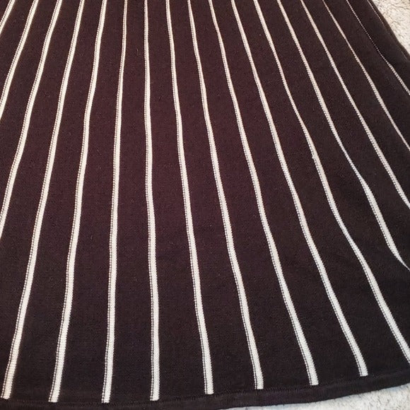 Calvin Klein Stripe Knit Knee Length Dress Size S