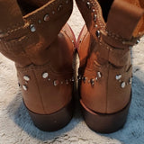 Dolce Vita Brown Leather Studded Boots Size 5.5