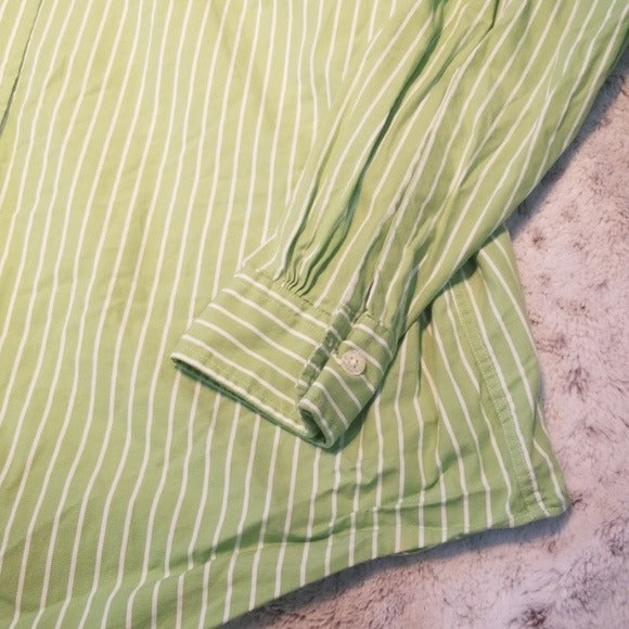 Brooks Brothers Lime Green & White Button Down Size L