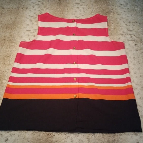 Banana Republic NWOT Striped Button Back Shell Size S