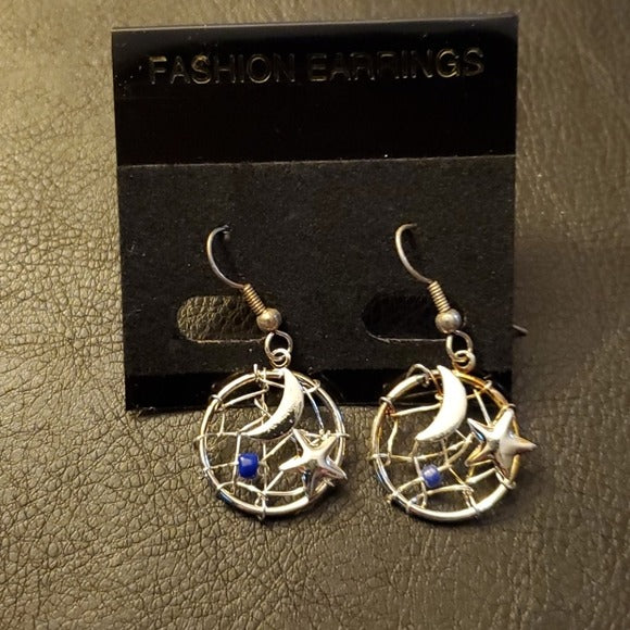 Boutique Gold And Silver Tone Dreamcatcher Earring