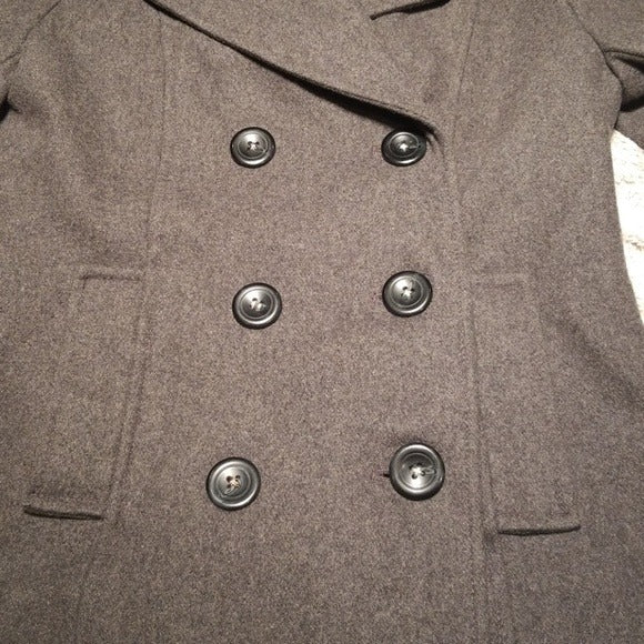 Merona Grey Double Breasted Pea Coat Size S