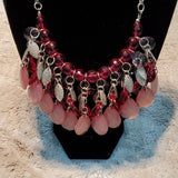 Boutique Silver & Pink Detailing Fashion Necklace