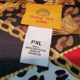 NWT Ruby Rd. Petite Wild Mix Button VNeck Tunic Blouse