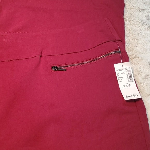 NWT Counterparts Maroon Straight Leg Dress Pants Size 26W