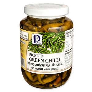 PT PICKLED GREEN CHILLI 454G  潘泰腌青辣椒454克