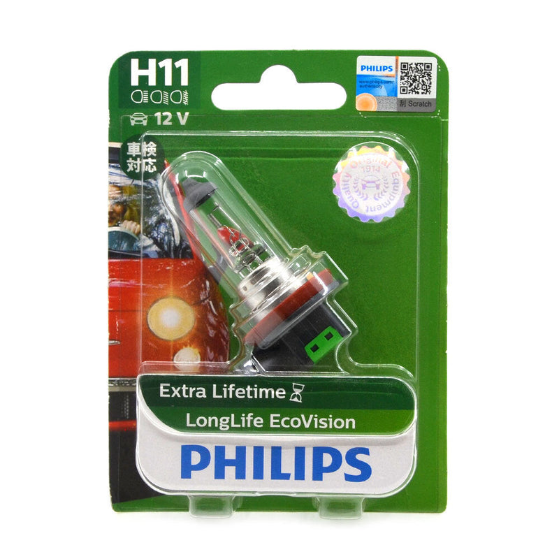 Philips H11 Globe Long Life Eco Vision Single Pack