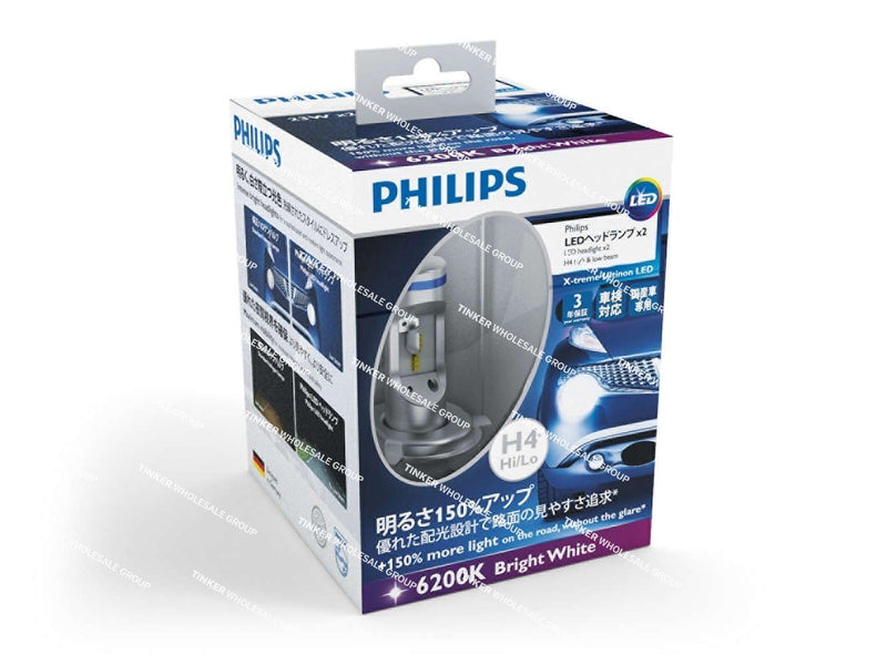 Philips H4 X-treme Ultinon LED Headlight Globes