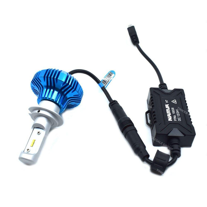 Narva H7 LED Headlight Conversion Kit 12/24 Volt with Canbus Module