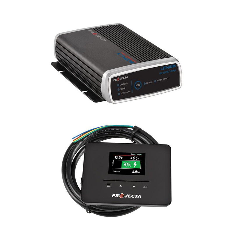 Projecta Lithium Dual Battery Smart Charger + Battery Gauge / Battery Monitor BM320