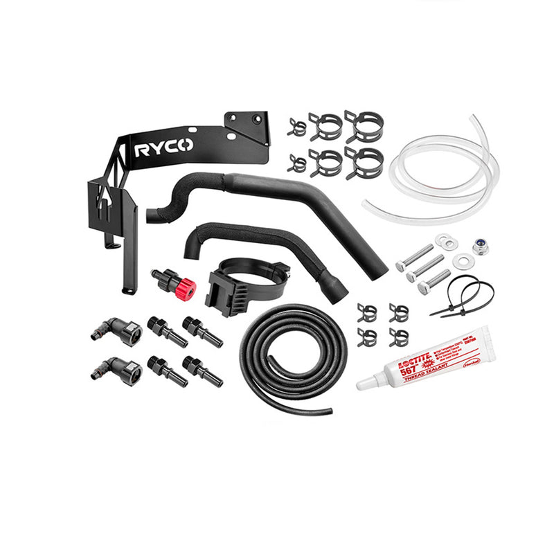 Ryco Specific Fitment Kit Catchcan Water Separator Hardware fits Toyota Hilux KUN16 3.0L Diesel Ryco