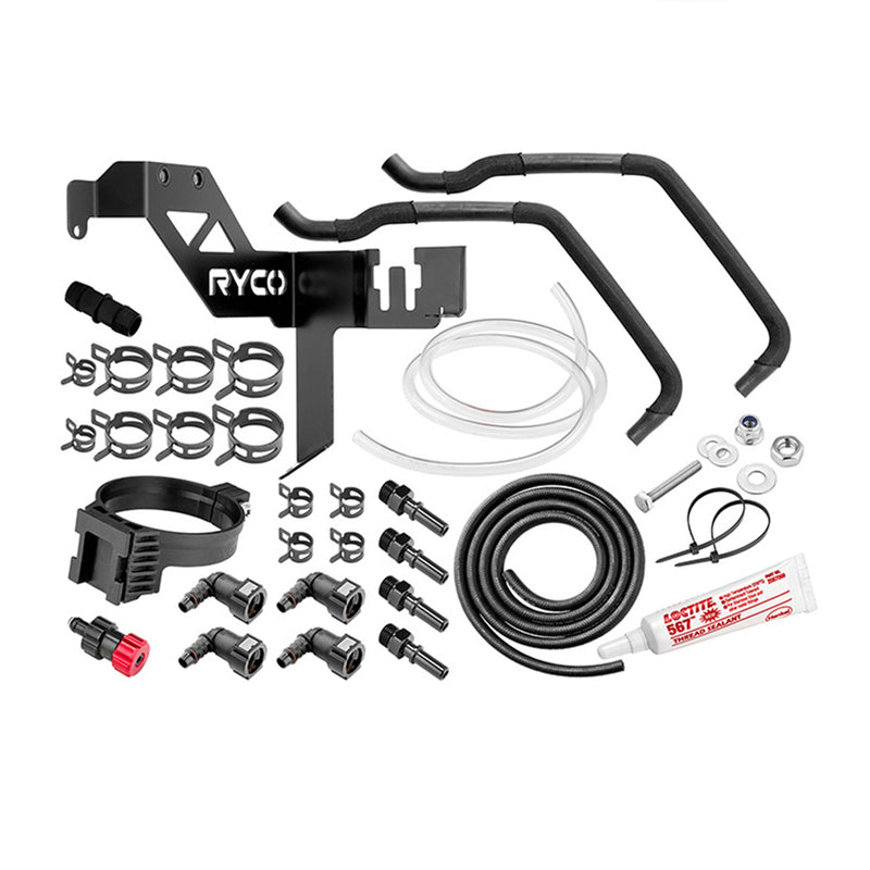 Ryco Specific Fitment Kit Catchcan Water Separator Hardware fits Ford Ranger3.2L Ryco