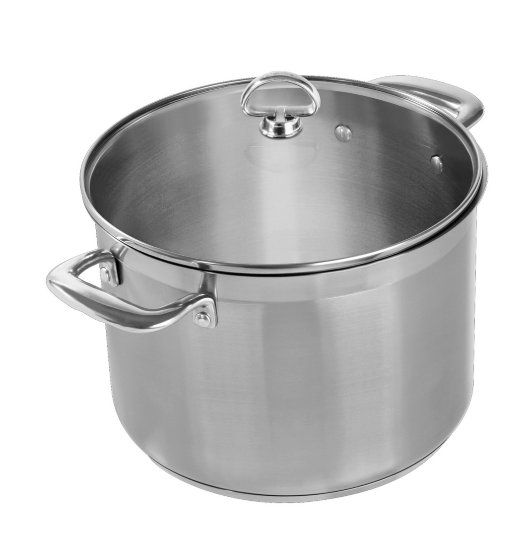 Chantal 21 Steel 8 Qt Stockpot w/Glass Lid