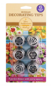 Mrs. Anderson's Baking Pastry Decorating Tips, Set of 6