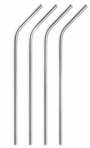 HIC Kitchen Stainless Steel Reuseable Drinking Straws with Cleaning Brush