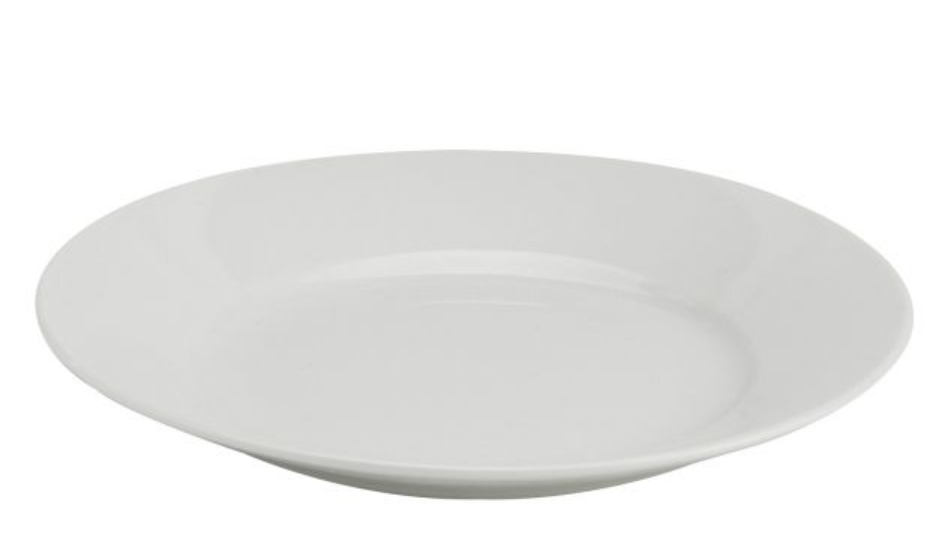 HIC Kitchen Rim Bread and Butter Plate, 6.5in