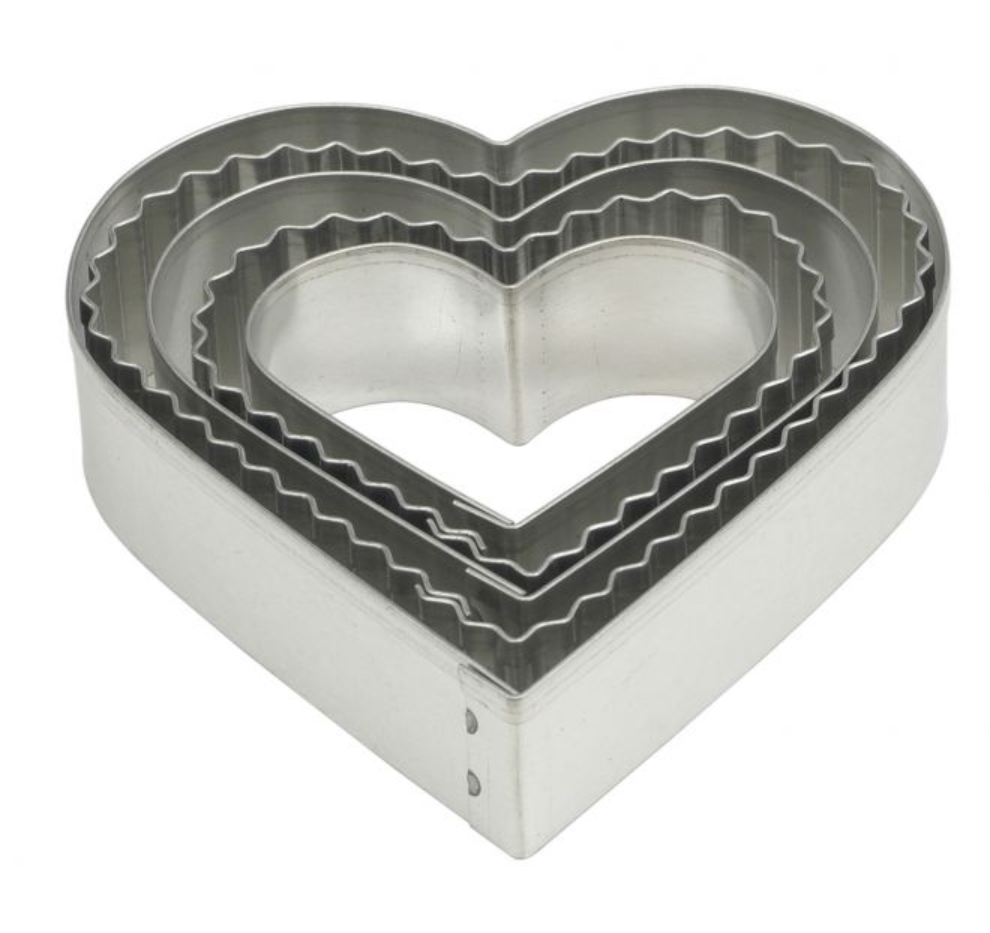 Mrs. Anderson's Baking Crinkle Cookie Cutter, Heart, Set 5