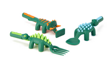 Load image into Gallery viewer, Constructive Eating Dinosaur Utensil Set