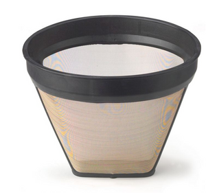 HIC Kitchen Gold Tone Filter, 2 Cup