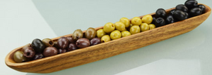Pacific Merchant Acacia Wood Olive and Cracker Tray