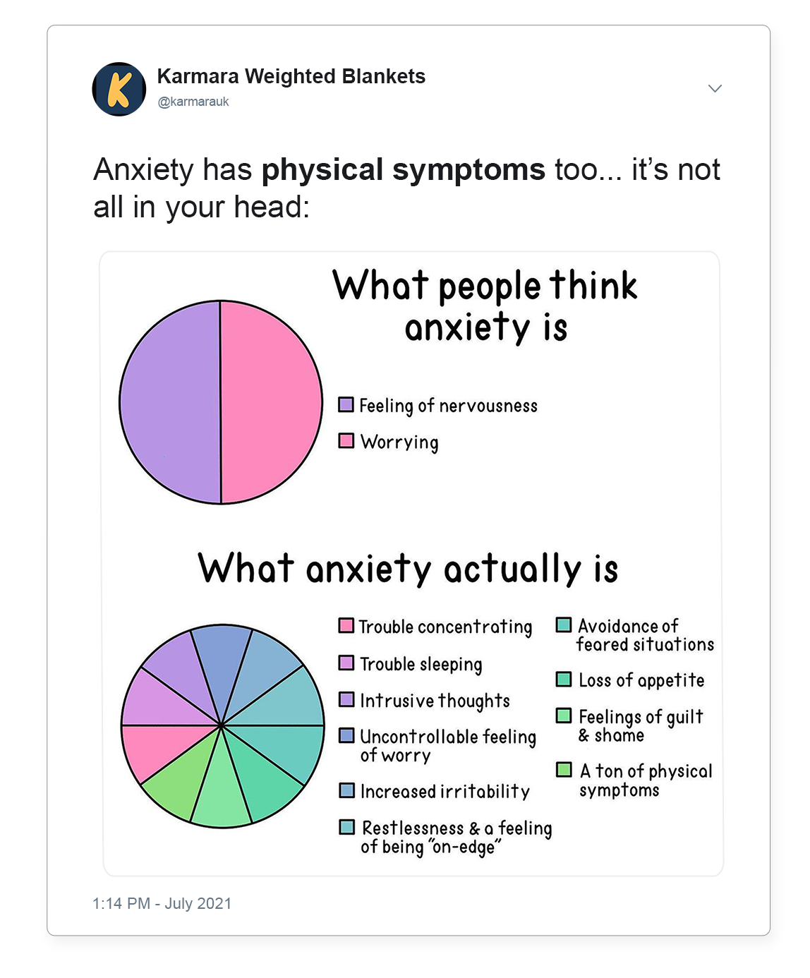 Anxiety Symptoms Can Be Physical