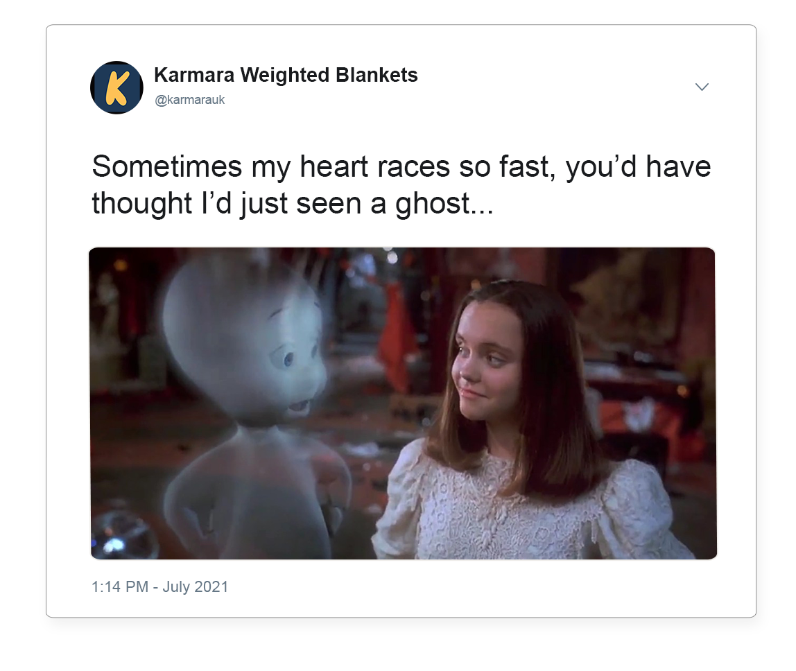 Anxiety feels like you've just seen a ghost