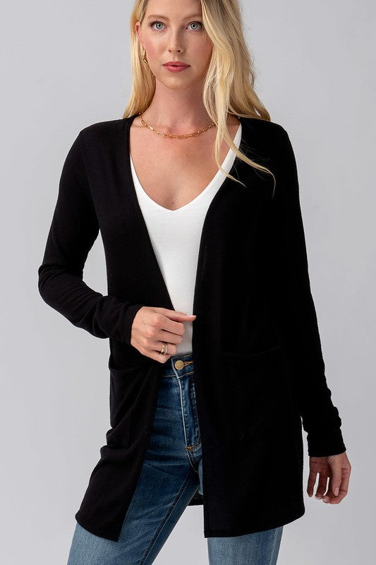Soft Black Cardigan