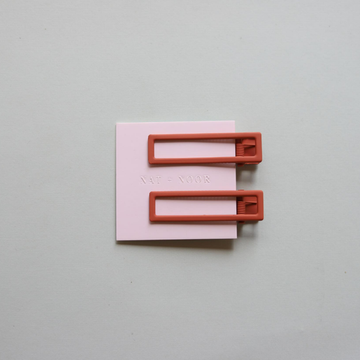 Hair Clip- Burnt Orange