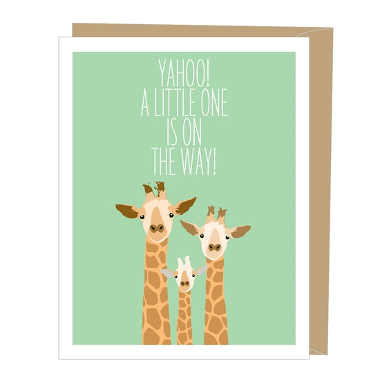 Card Giraffes Greeted