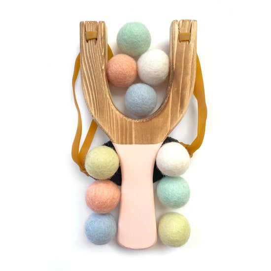 Wooden Toy Slingshot Peach